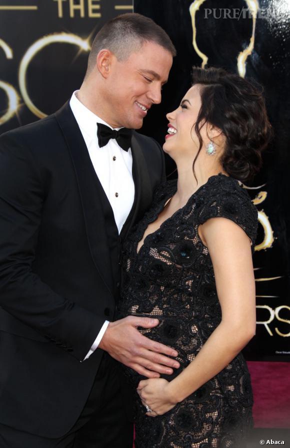 Channing Tatum semblait très attentif durant la grossesse de sa femme Jenna Dewan Tatum.