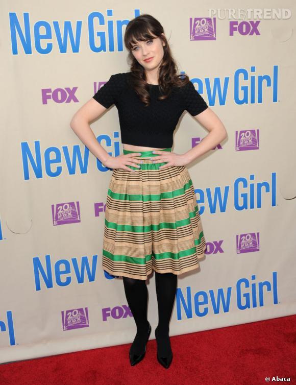 """Zooey Deschanel est passée du cinéma à quelques petites rôles à la télé, avant de décrocher le rôle de Jess dans """"New Girl""""."""