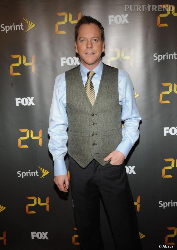 """Pour la plupart des fans, Kiefer Sutherland c'est avant tout """"24 heures chrono""""."""
