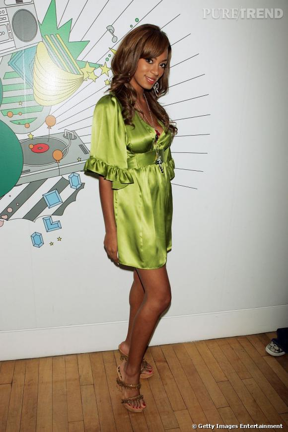 En 2006 :  Solange Knowles a des airs de pistache.