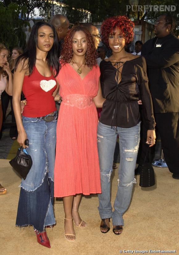 En 2002 :  Solange Knowles fait un effort mais pour le maquillage c'est fortement raté.