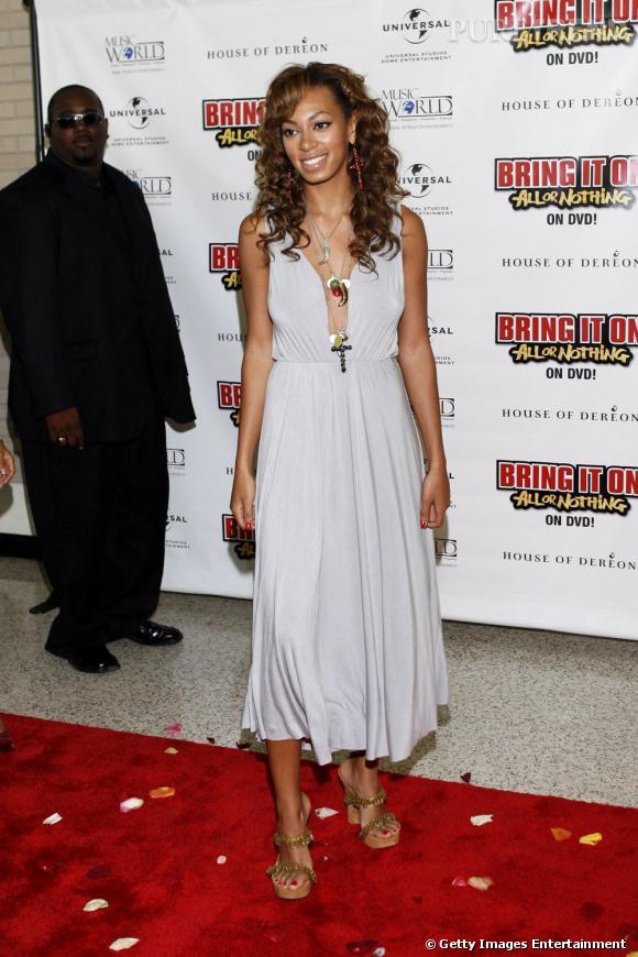 En 2006 :  Solange Knowles affiche une allure bien mieux calibrée...