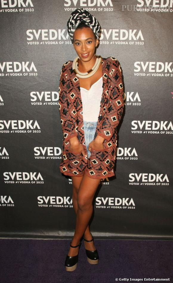 En 2011 :  Solange Knowles la joue tribal queen et elle a bien raison.