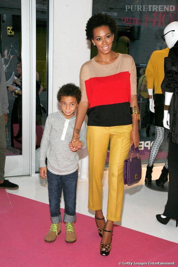 En 2011 :  Solange Knowles maman cool et lookée qui ose la ouleur.