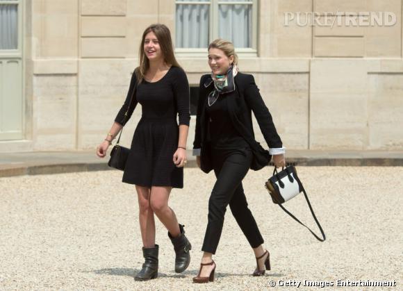 Léa Seydoux et Adèle Exarchopoulos sont féminines et élégantes pour se rendre à l'Elysée.