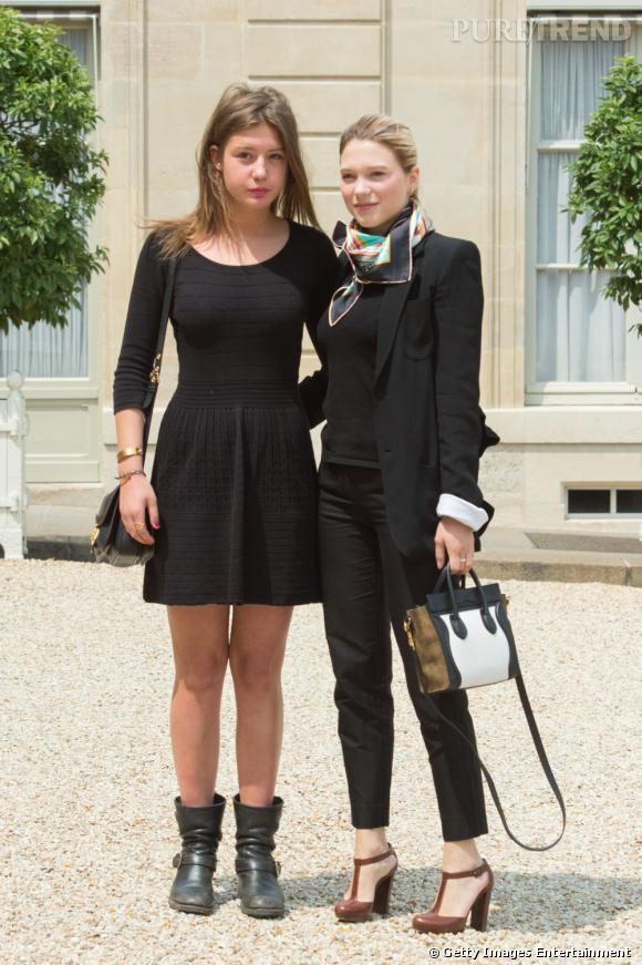 """Léa Seydoux et Adele Exarchopoulos étaient les prestigieuses invitées de l'Elysée pour le triomphe de """"La Vie d'Adèle"""" à Cannes."""