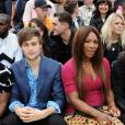 Douglas Booth et Serena Williams front row au défilé Burberry à Londres.