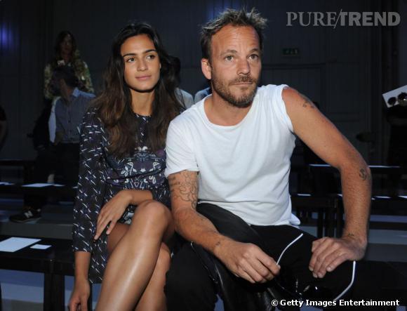 Stephen Dorff et sa girlfriend au défilé Diesel Black Gold à Milan.