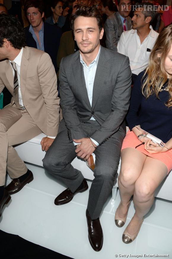 James Franco en front row chez Gucci à Milan.