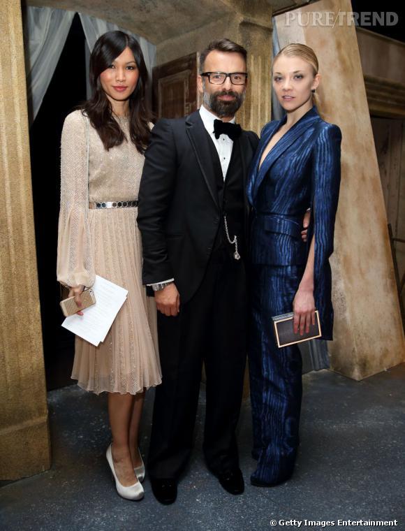 Gemma Chan, Nicholas Oakwell et Natalie Dormer au défilé Nicholas Oakwell à Londres.