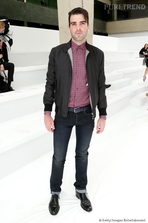 Zachary Quinto au défilé Dior Hommes à Paris.