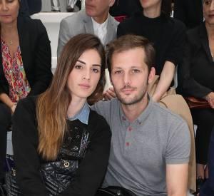 Nicolas Duvauchel et sa girlfriend chez Dior Hommes à Paris.