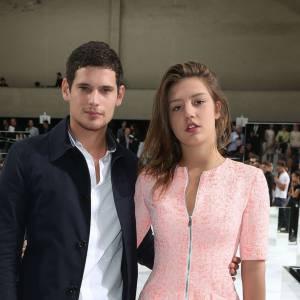 Jérémie Laheurte et Adèle Exarchopoulos au défilé Dior homme à Paris.