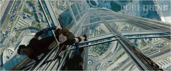 "Tom Cruise dans ""Mission Impossible : Protocole Fantôme""."
