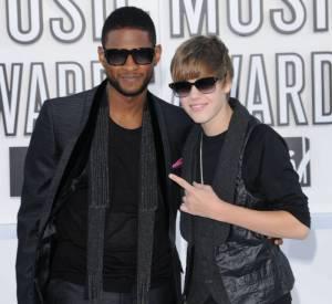 Justin Bieber et Usher lors des MTV Music Video Awards en 2010.