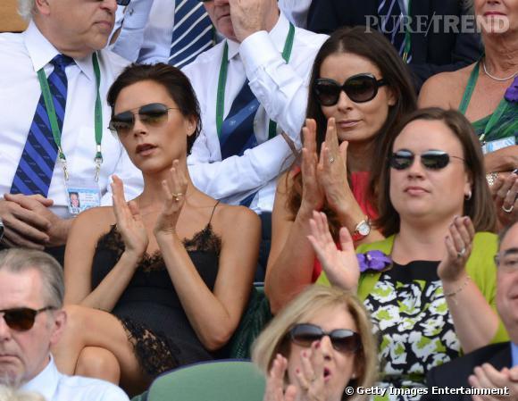 Victoria Beckham assiste à un match pendant Wimbledon 2013.