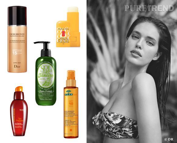Shopping beauté : notre parfait kit soleil ! Produits Dior Bronze, Lancaster, Sol de Janeiro chez Sephora, Elizabeth Arden, Nuxe Sun et Lookbook Oysho Bain SS2013