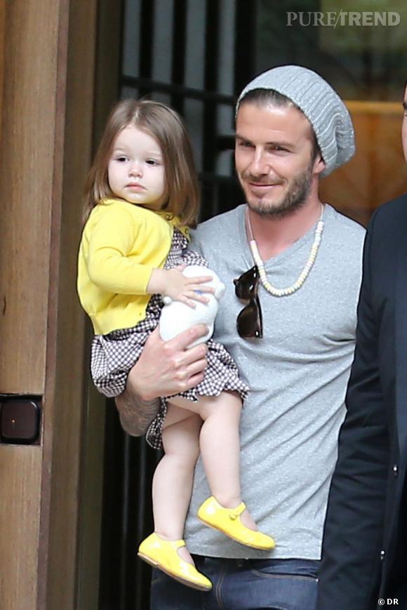 Harper Beckham mélange imprimé vichy et note de jaune poussin, très originale !