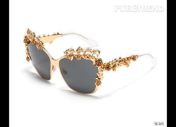 Le must have de Marijke Lunette de soleil Dolce & Gabbana, 600 € environ