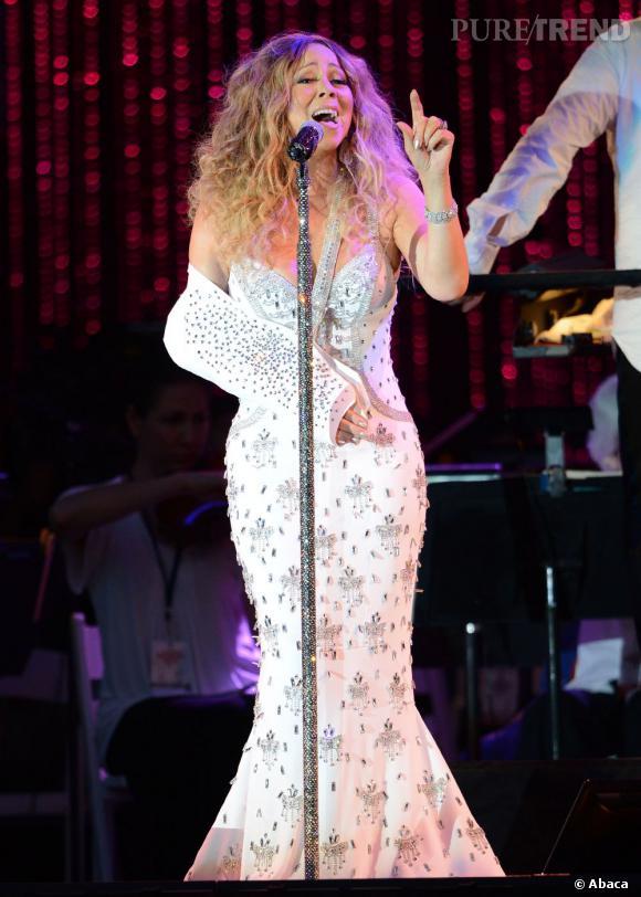 Mariah Carey en concert à Central Park à l'occasion d'une soirée de charité pour les victimes de Sandy à New York.