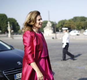 Valerie Trierweiler : l'elegance explosive pour la Fete Nationale