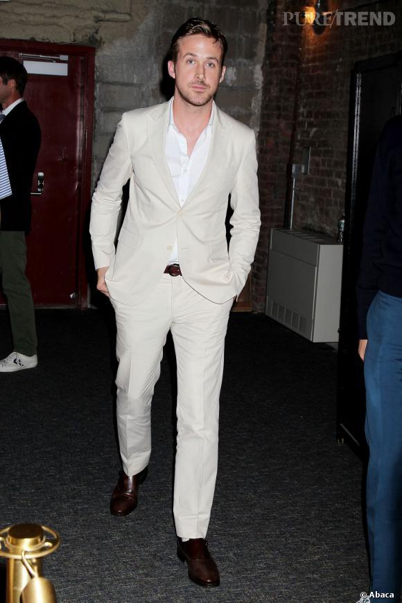 """Ryan Gosling, totalement décontracté pour l'avant-première de """"Only God Forgives"""" à New York."""