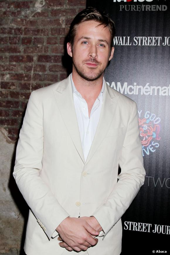"""Ryan Gosling prend une pause de son tournage pour présenter """"Only God Forgives"""" à New York."""