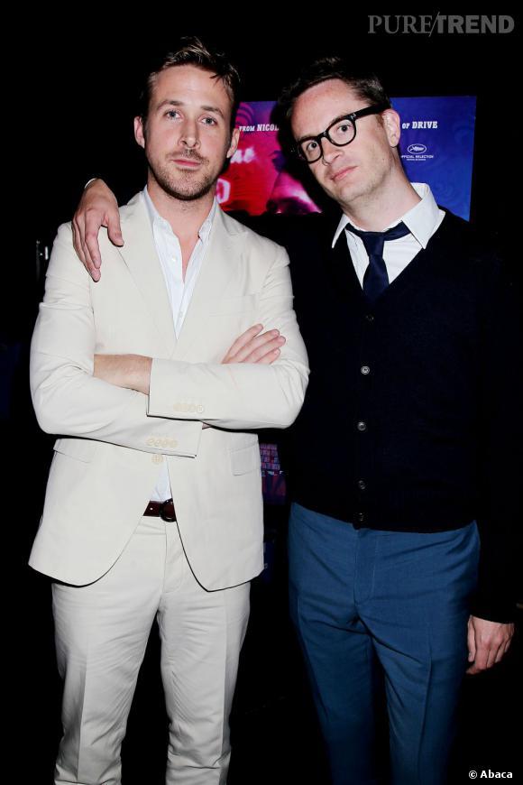 """Ryan Gosling et le réalisateur Nicolas Widding Refn à l'avant-première de """"Only God Forgives"""" à New York."""
