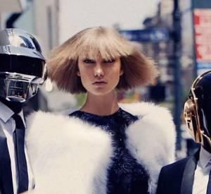 Vidéo Behind the Scenes pour le magazine Vogue avec Daft Punk et le top Karlie Kloss.