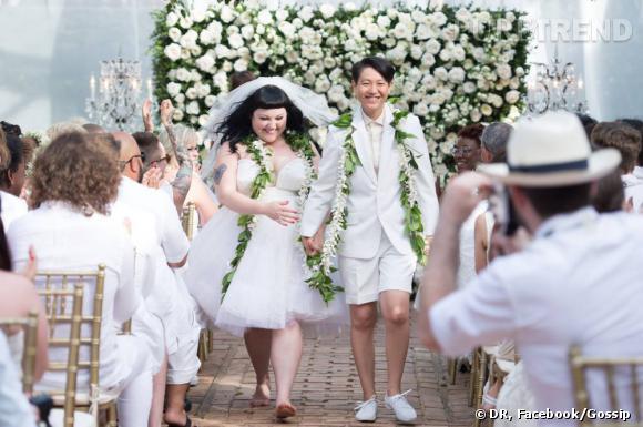Beth Ditto et sa compagne se sont mariées en juin à Hawaï.