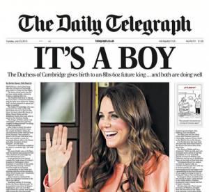Royal baby : le best of des Unes des tabloids anglais