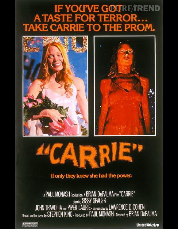 """La toute première adaptation d'une oeuvre de Stephen King fut """"Carrie"""" en 1976, que Brian de Palma réalisa et appela """"Carrie au bal du diable""""."""