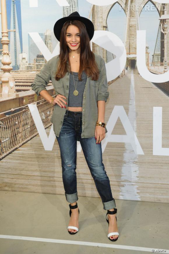 Vanessa Hudgens lors d'un évènement American Eagle à New York.