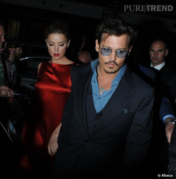 Amber Heard et Johnny Depp, pour vivre heureux vivons cachés. Ou presque.