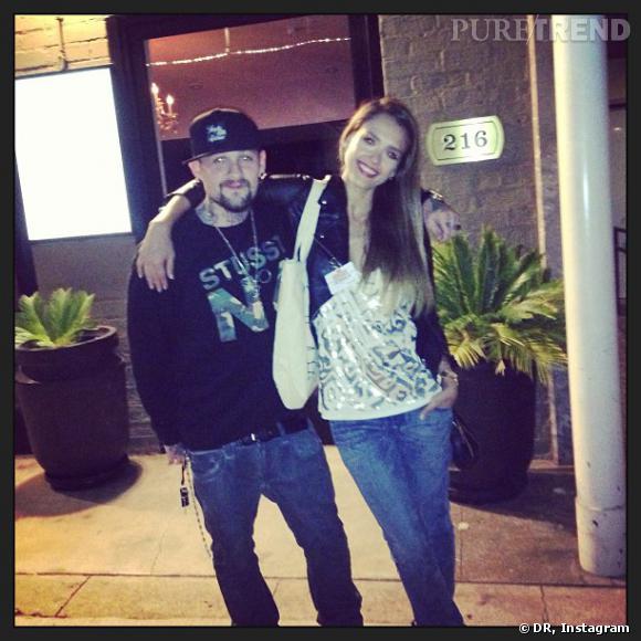 Quand Jessica Alba rencontre Benjamin Madden dans la rue, ça vaut bien une petite photo !
