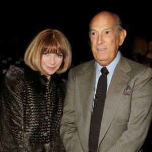 Anna Wintour et Oscar de la Renta au défilé Diane Von Furstenberg lors de la Fashion Week Automne-Hiver 2012/2013 de New York.