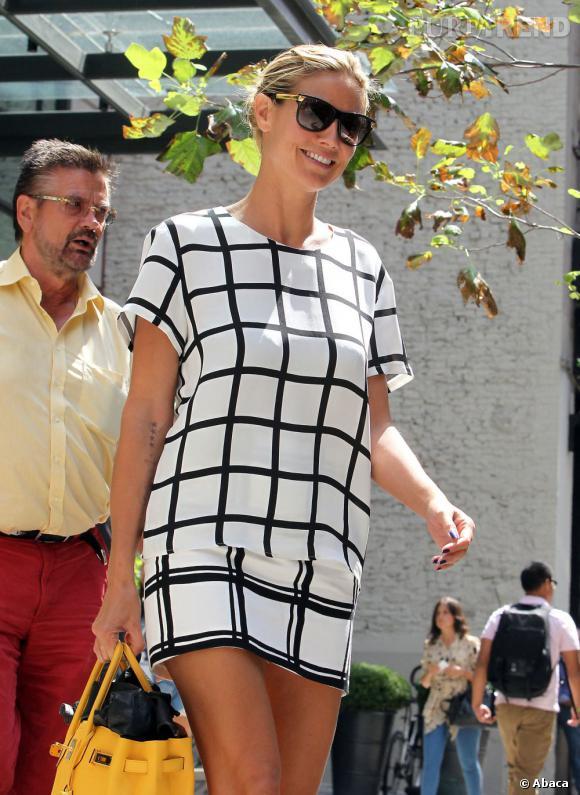 Heidi Klum, une mère de famille très sexy dans les rues de New York.