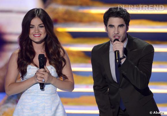 Lucy Hale et Darren Criss étaient les présentateurs des Teen Choice Awards 2013.