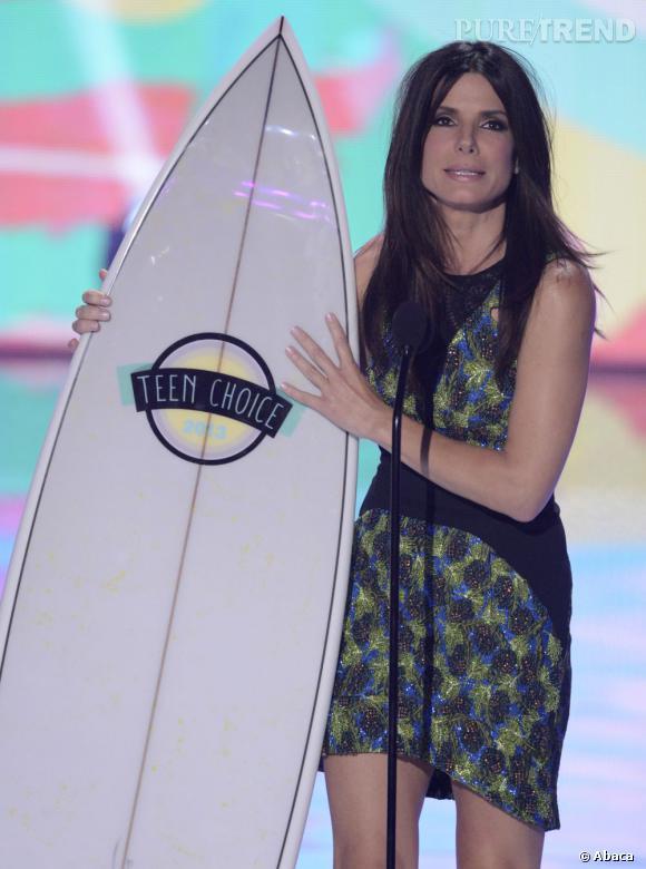Sandra Bullock, star de cinéma de l'été aux aux Teen Choice Awards 2013.