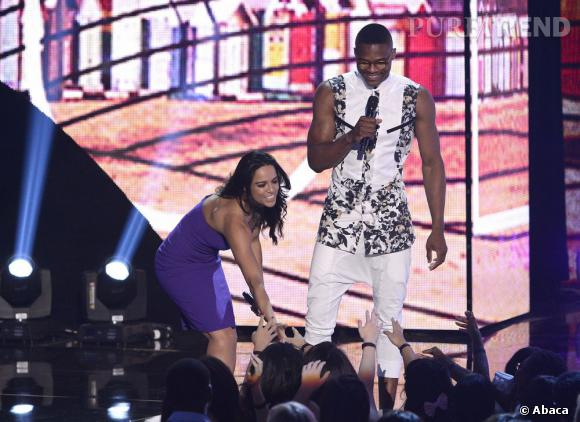 Michelle Rodriguez et Russell Westbrook aux Teen Choice Awards 2013.