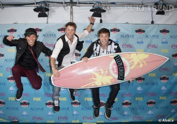 Emblem3, meilleur révélation catégorie groupe aux Teen Choice Awards 2013.