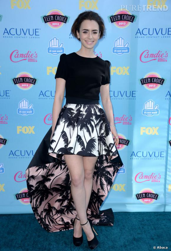 Lily Collins aux Teen Choice Awards 2013.