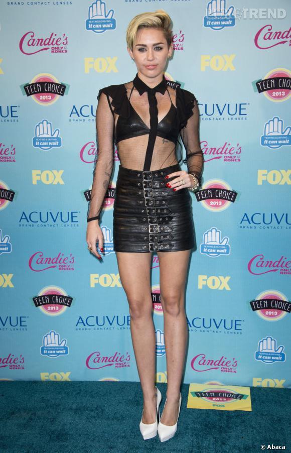 Miley Cyrus aux Teen Choice Awards 2013 à Los Angeles le dimanche 11 août.