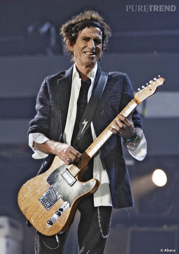 Keith Richards, l'incontournable guitariste des Stones.