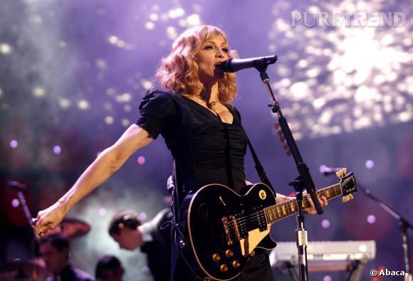 Madonna moins excitée que d'habitude. C'est bien aussi.