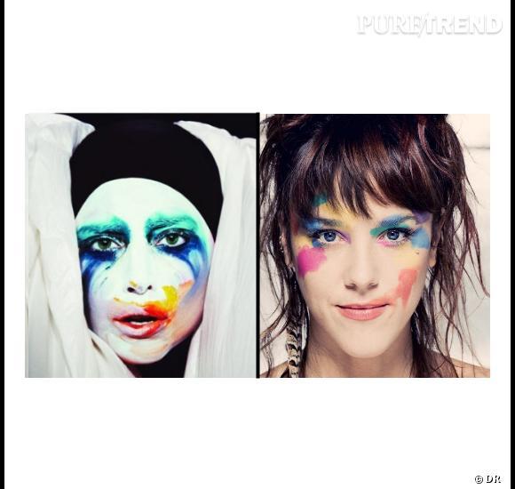 Qui de Zaz ou Lady Gaga a eu la première l'idée de ce joli make-up arty ?