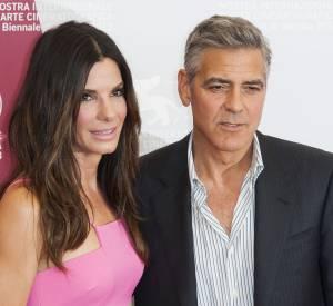 George Clooney et Sandra Bullock à la Mostra de Venise 2013.