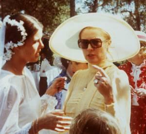 Caroline de Monaco et Grace Kelly lors du mariage de la princesse en 1978.