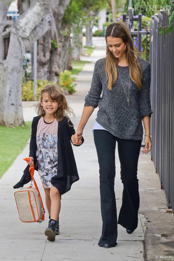 Jessica Alba et sa fille aînée, Honor.