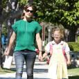 Jennifer Garner et Violet, l'aînée de ses trois bambins.